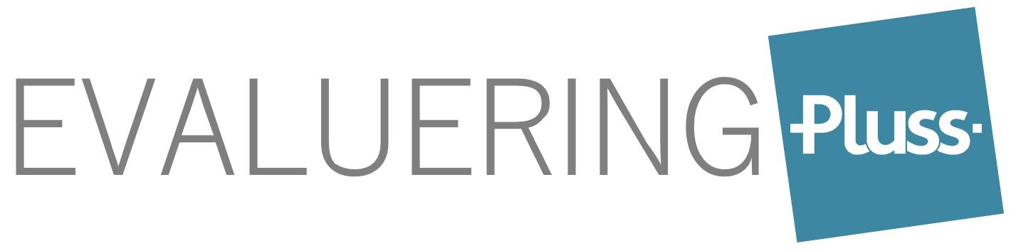 Pluss Evaluering logo